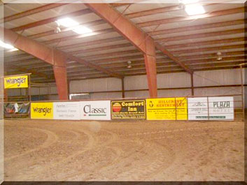 Indoor Team Roping Arena, New Mexico